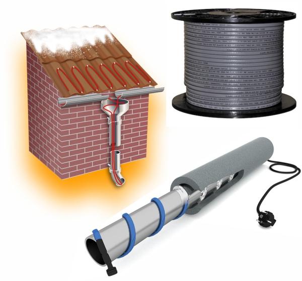 Греющие кабели для кровли, труб, водостоков и канализации