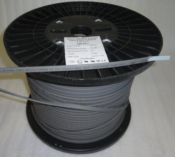 Саморегулирующийся греющий кабель для труб и резервуаров 24 Вт/м
